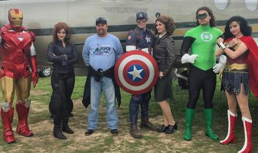 Iron Man Black Widow Captain America Peggy Carter Green Lantern and Wonder Woman at Modaero in Conroe