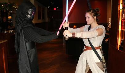 Kylo Ren and Rey from Star Wars at The Melting Pot