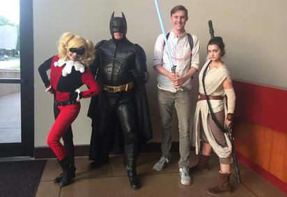 Harley Quinn Batman and Rey from Star Wars at The Health Museum