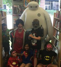 Hiro and Baymax at Bedrock City Comic Company