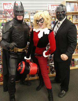 Batman and Harley Quinn at Bedrock City Comic Company